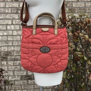 Fossil Key-Per Quilted Crossbody Bag